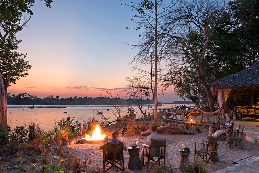The Firepit at Selous River Camp